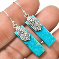 Owl - Natural Arizona Turquoise 925 Sterling Silver Earrings Jewelry 4455