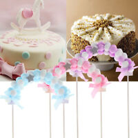 Favors Baby Shower Birthday Flags Cake Topper Cupcake Decor Pompom Soft Cloud