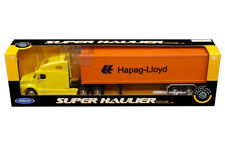 Freightliner Columbia Semi Truck Trailer Container Diecast 1:32 Welly 22inYellow
