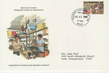 Micronesia 1988 Cover Formation Of The Island Trading Company