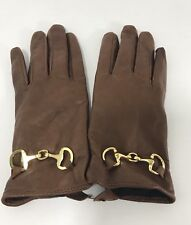 Womens Brown Leather Gloves Small Dillard's
