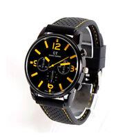 Mens Quartz Wrist Watch Stainless Steel Sports Analog  Analogue 3 Face Dials