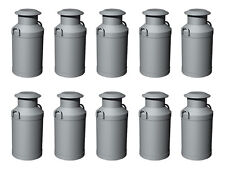 Hornby R8678 Skaledale 10 x Milk Churns Silver 1/76 Scale = 00 Gauge - 1st Post