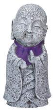 NEW! Ksitigarbha Jizo Ojizo-Sama Japanese Buddha Statue Figure with Purple Bib