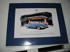 Ford Edsel Mounted colour USA car Print