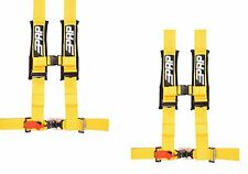 "PRP 4 Point Harness 3"" Pads Seat Belt PAIR YELLOW Polaris RZR XP Turbo 1000"