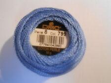 DMC Perle 8 Cotton Ball Colour Blue Number 799