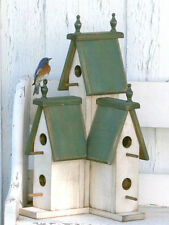 Hunter- GREEN Large Wooden  VICTORIAN BIRDHOUSE-2016-Sept. Wooden Creations