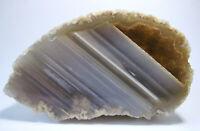 +++ gestreifter Achat +++                       Geode Druse Achatdruse agate E31