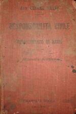 'Responsabilità civile e risarcimento di danni' - Cesare Baldi (1908), Ed. Bocca