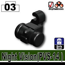 PVS-14 (W51) Tactical Army Night Vision Goggles compatible w/toy brick minifig