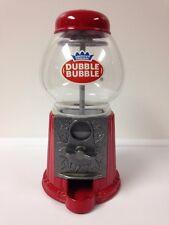Vintage Dubble Bubble Gum Ball Machine Coin Bank (Red) Metal, Plastic