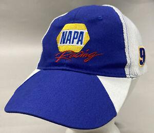 Chase Elliott #9 NAPA Racing - Blue Mesh-Back Adjustable Fit Hat Cap (NASCAR)