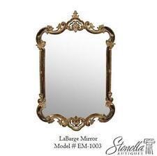 Lovely Espejo De Pared En Oro Ovalado 45 X 38cm Barroca Antiguo Reproducción Vintage Espejos Arte Y Antigüedades