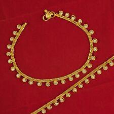 Pajeb Women Ankle Bracelets Jewelry Wedding Payal Party 18K Goldplated Anket