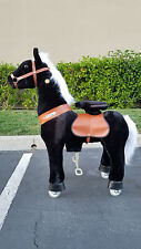 TODAY DEAL PONYCYCLE Rock Walk Ride On Toy Horse Medium Age 4-9 (BLACK KNIGHT)