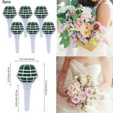 6Pcs Bridal Wedding Bouquet Holder Party Decoration Floral Foam Flower Handles