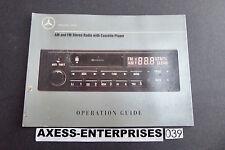 1989 1990 Mercedes W201 190E 190 E Radio Cassette Owners Manual Book # 851-20