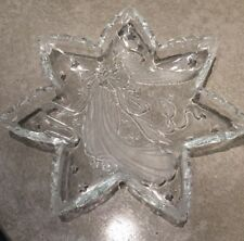 "Mikasa Crystal Star 13"" ""Angel Music"" Serving Platter Server Clear frosted glass"