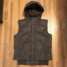 The North Face Down Vest - 600 Goose Down Hooded Vest Jacket Coat Womens L EUC