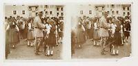 WW1 Maresciallo Pétain Alsace Vittoria Guerre Placca Da Lente Stereo Positive