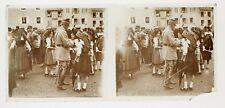 WW1 Marechal Pétain Alsace Victoire guerre Plaque de verre stéréo positive