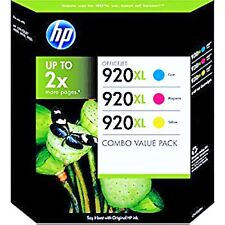 3 HP 920XL Colors Ink Cartridge Combo Genuine New