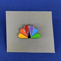 Vintage NBC Pin Rainbow Peacock Logo Media Metal National Broadcasting Company