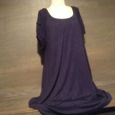 Bread + Butter WOMENS DARK BLUE Dress - Size: LARGE LINED SHORT SLEEVE LOOSE FIT