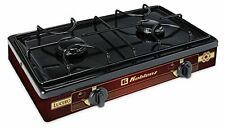 Two Burner Gas Stove Propane Camping Equipment Cooking Portable Outdoor Backyard