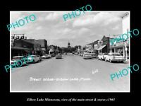 OLD LARGE HISTORIC PHOTO OF ELBOW LAKE MINNESOTA, THE MAIN STREET & STORES c1965