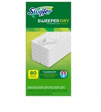 Swiffer Sweeper Dry Cloth Refill, 80 Count New