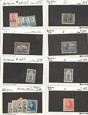 KAPPYSSTAMPS 132-15 BELGIUM - 8 LOTS - TABS - SEE SCANS -USED/MNH/MH GOOD TO XF