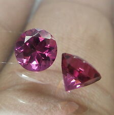 6 MM Faceted Round Shape Natural AAA Grade Rhodolite Garnet Gemstone 2 Piece Lot