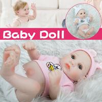 28CM Reborn Girl Baby Dolls Handmade Full Body Lifelike Toy Vinyl Silicone A