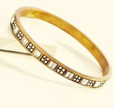 Silpada Modern Maven Bangle Bracelet Swarovski Crystals Brass NEW!