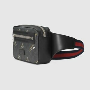 Gucci Bestiary Belt Bag with Tigers | Black | Unisex | Leather | GG Crossbody