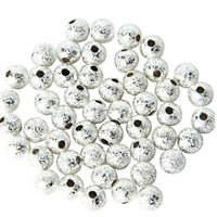 100pcs Spacer Beads Silver Plated Base Round 4mm for Jewelry Making