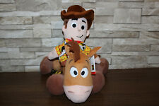"""Toy Story Soft Plush 14"""" Bullseye with Tags & Woody Soft Hand Puppet"""