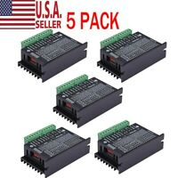 5pcs Motor Drivers Controller Single CNC Axis 4A TB6600 2/4 Phase Hybrid Stepper