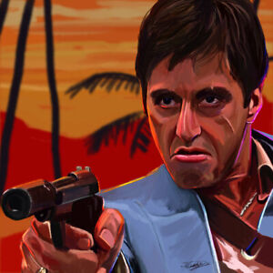 """SCARFACE MOVIE POSTER 24"""" X 24"""""""