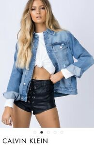 Calvin Klein Foundation Trucker Jacket Denim Jacket  XS  6 8 10 12 New With Tags