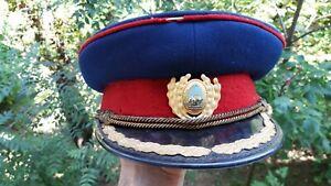 Hat Cap kepi Parade Ceremony cold war Romanian Army - Rumänien Arme Mütze