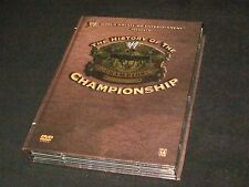 The History of the WWE Championship WWF 3 Disc DVD Set Title Belt Matches+Bios