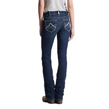 Ariat Damas r.e.a.l mediados de subida Stretch Jeans de pierna recta icono 10017216