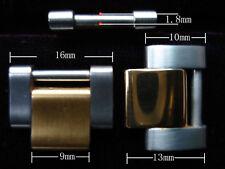 ONE 2-TONE SCREW ADJUSTABLE LINK FOR ROLEX 20MM MEN OYSTER WATCH BAND BRACELET