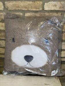 Pottery Barn Kids Brown Sherpa Bear Throw Pillow