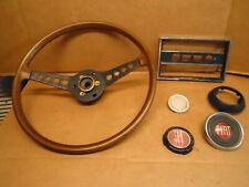 1974 Fiat Sport Spider 124 2 Door Convertible Steering Wheel, EMBLEMS & TRIM OEM