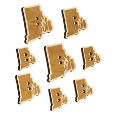 Rhode Island State Silhouette Wood Buttons for Sewing Knitting Crochet DIY Craft