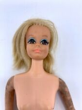 1968 Mattel DRAMATIC LIVING BARBIE Poseable Doll Blonde Shag Rooted LASHES *Read